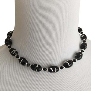 Macy's Sterling and Black Glass Beads (16-19