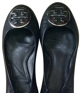 Tory Burch Black, with Silver Logo Flats