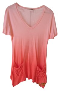 Ella Moss Ombre Resort Coral Beach Cover Up Tunic T Shirt Pink