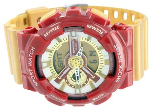 Other Mens Sports Athlete Watch Red Gold Shock Resistant Iron Man Limited Edition New