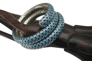 John Hardy Limited edition turquoise enamel dot serpent wrap