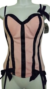 Hot Topic Pink & black Corset - 34D - NEW