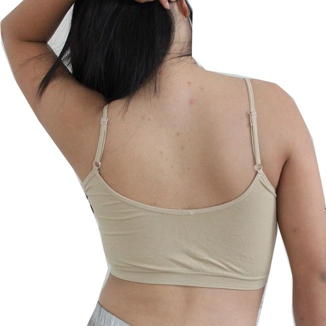 Other Sexy BANDEAU Sports Bras Tube Top Working Out Exercise Running Adjustable Yoga Beige