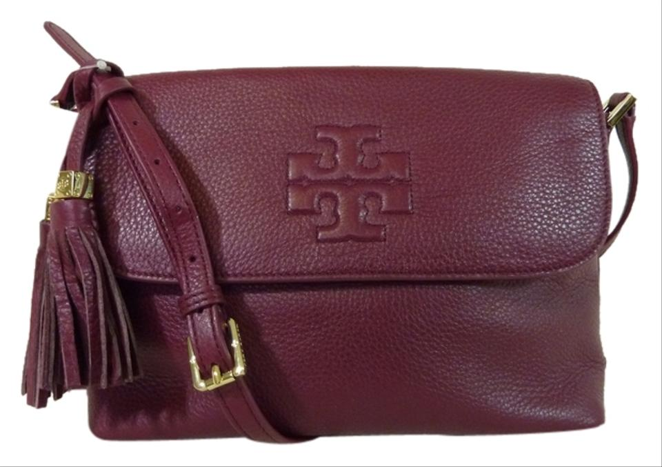 Thea Tory Burgudy Cross Leather Body Cabernet Burch Bag rrwqa1E5
