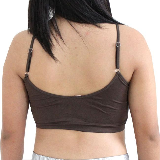 Other Sexy Chocolate BANDEAU Sports Bras Tube Top Working Out Exercise Running Adjustable Yoga