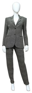 Chanel vintage 1990s stunning black white soutache weave jacket + pants wool suit