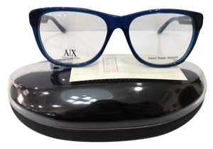 A|X Armani Exchange NEW ARMANI EXCHANGE AX237 COLOR BBO BLUE BIG PLASTIC EYEGLASSES FRAME 53MM