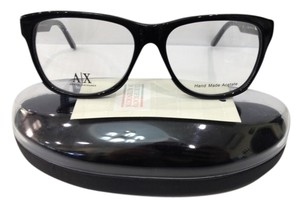 A|X Armani Exchange NEW ARMANI EXCHANGE AX237 COLOR 807 BLACK BIG PLASTIC EYEGLASSES FRAME 53MM