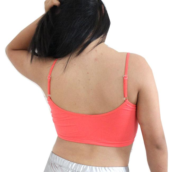 Other Sexy BANDEAU Sports Bras Tube Top Working Out Exercise Running Adjustable Yoga Coral