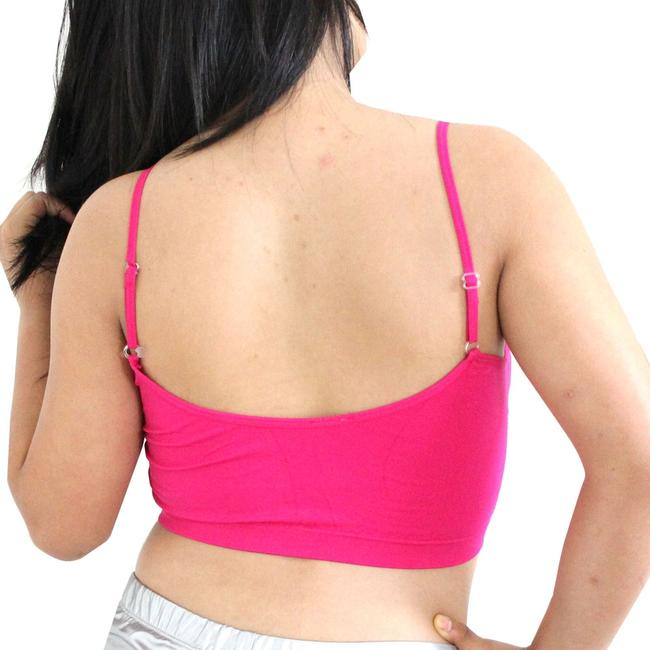 Other Sexy BANDEAU Sports Bras Tube Top Working Out Exercise Running Adjustable Yoga Hot Pink