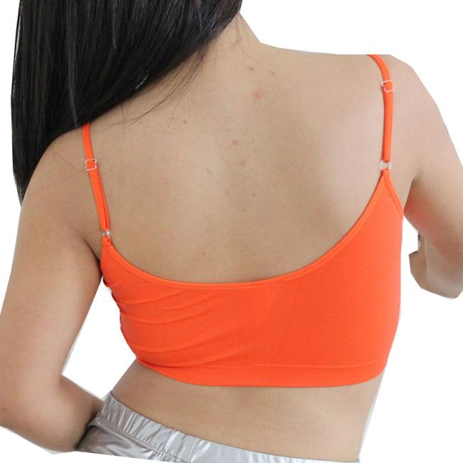 Other Sexy BANDEAU Sports Bras Tube Top Working Out Exercise Running Adjustable Yoga Swim Neon Orange