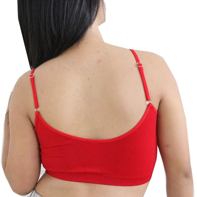 Other Sexy BANDEAU Sports Bras Tube Top Working Out Exercise Running Adjustable Yoga Swim Red
