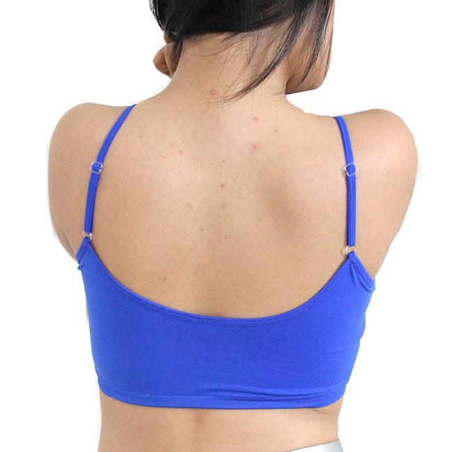 Other Sexy BANDEAU Sports Bras Tube Top Working Out Exercise Running Adjustable Yoga Swim Royal Blue