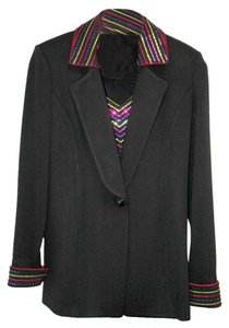 St. John Jacket Knit Black Blazer