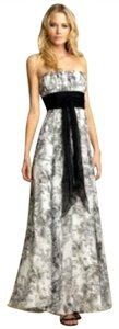 Black & White Maxi Dress by BCBG Paris Floral Chiffon Maxi