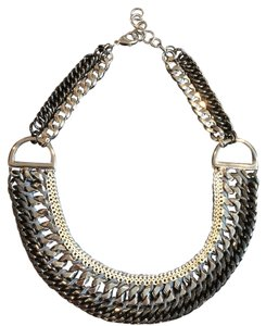 Stella & Dot Stella and Dot Statement Silver Chains Necklace
