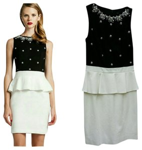 Cynthia Steffe Beaded Peplum Dress
