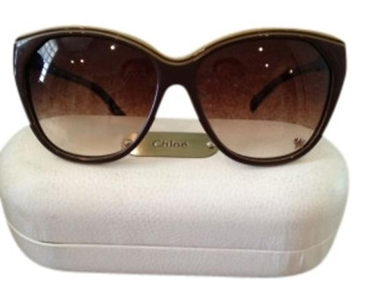 Preload https://item4.tradesy.com/images/chloe-brown-with-tan-cat-eye-sunglasses-8883-0-0.jpg?width=440&height=440
