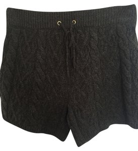 Madewell Sweater Knit Cable Knit Fall Cosy Shorts Chocolate Brown