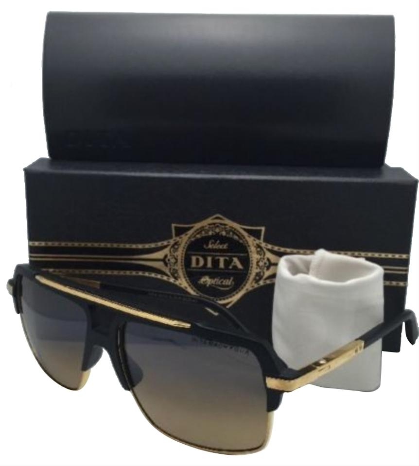 cfbb21feacd9 Dita New DITA Polarized Sunglasses MACH FOUR DRX-2070-A Black   18K Gold ...