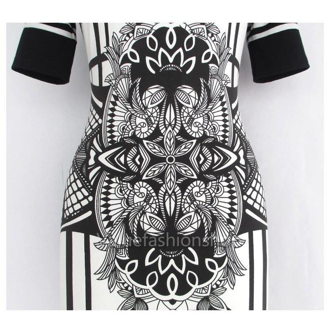 Other short dress black and white Tribal Bodycon Cotton Excellent Condition Warm on Tradesy