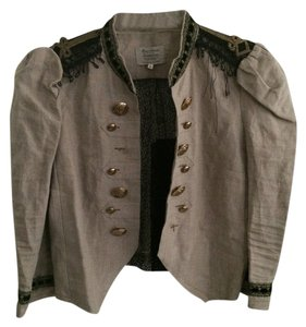 River Island Vintage Linen Lace Military Jacket