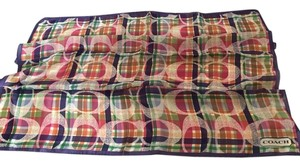 Coach COACH MADRAS PLAID SIGNATURE NECK SCARF
