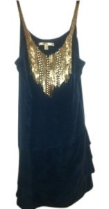 Jenny Han Short Ruffle Sequins Dress