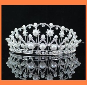 Cathedral Pearl And Crystals Tiara