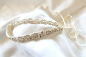 Lucy Rhinestone Headband Grecian Headpiece Wedding Hair Accessory Crystal Headband Leaves Halo