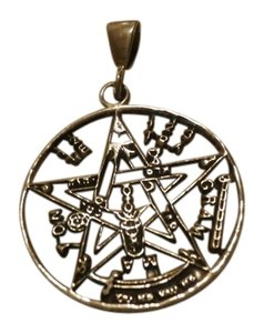 NEW STERLING SILVER TETRAGRAMMATON Haunted,amulet against 77 enemies,protection, Magic Power Shield,good Luck
