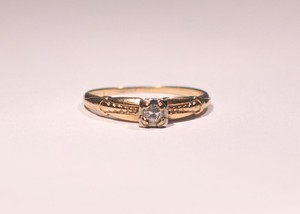 European Cut Antique Promise Ring/ Engagment Ring