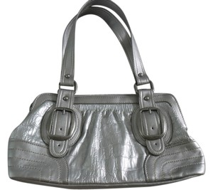 Mossimo Supply Co. Satchel in metallic silver