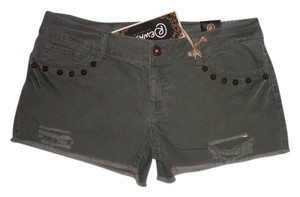 Rewash Cut Off Shorts Olive