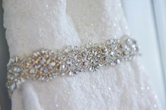 Belt Crystal Belt Beaded Belt Satin Ribbon with Crystal and Rhinestone Beaded Applique Sash