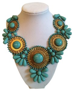 ZAD Beautiful Turquoise Statement Necklace