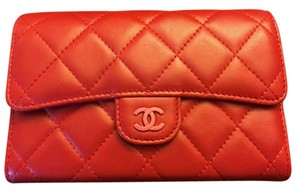 Chanel CHANEL small wallet in soft quilted lamb leather