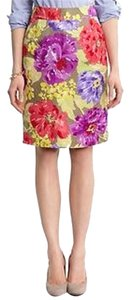 Banana Republic Linen Floral Pencil Skirt