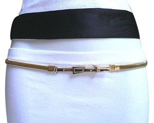 Other Women Low Hip Gold Stretch Thin Metal Fashion Casual Belt S M L