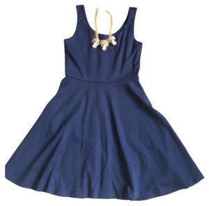 Aqua short dress Navy on Tradesy