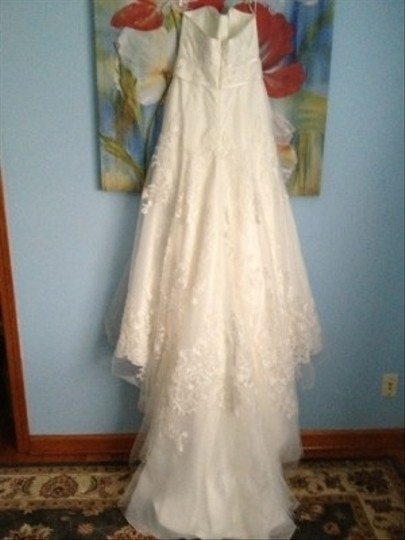 Priscilla of Boston Ivory Organza Elaine From The Vineyard Collection Gown and Matching Cathedral Veil... Feminine Wedding Dress Size 8 (M) Image 4