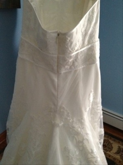 Priscilla of Boston Ivory Organza Elaine From The Vineyard Collection Gown and Matching Cathedral Veil... Feminine Wedding Dress Size 8 (M) Image 6