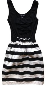 BCX Wear To Wedding & Pockets Stripes Ruffles Dress