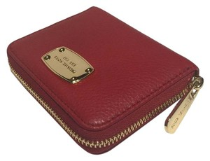 Michael Kors Bifold Leather Mk Red Clutch