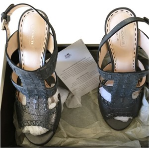 Coach Gunmetal (slate) Sandals
