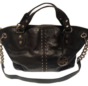 Michael Kors Satchel in Black with Silver Hardware