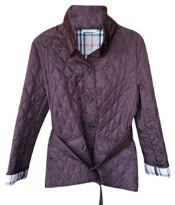 Burberry London Classic Chocolate Brown Quilted Jacket