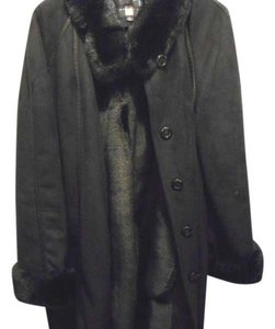 Gallery Warm Winter Fur Trim Fur Coat