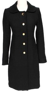 MILLY Full Length Textured Wool Pea Coat