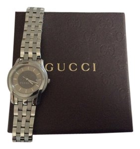 Men's Gucci Watch Gucci Men's Timeless Brown Dial Stainless Steel Watch